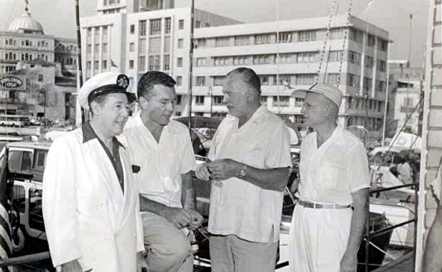 Johnny with Hemingway in Havana