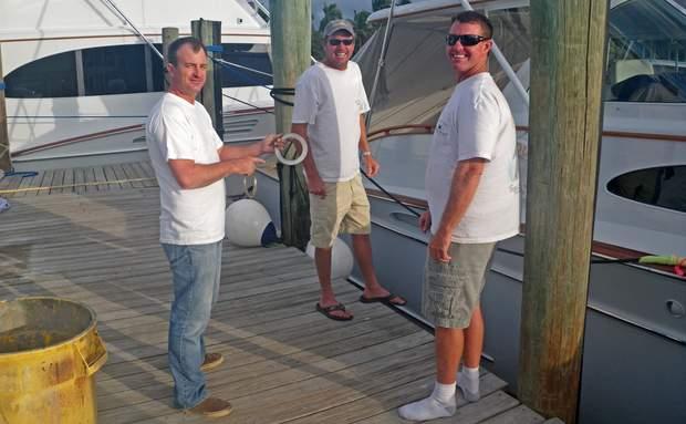 Capt. Will, Capt. Johnny, and Capt. Eric