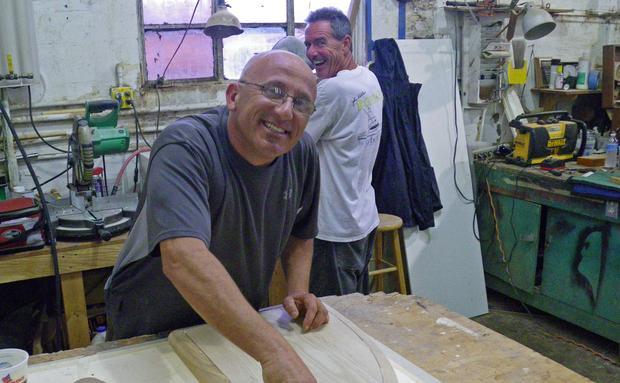 Carpenters Mario Spiteri and Kevin Arrell