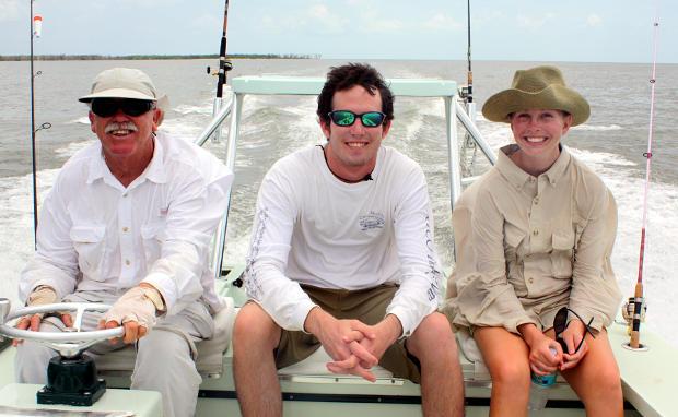 Captain Steve Cox, Dusty Rybovich, and Molly Rybovich