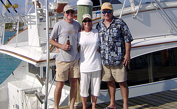 Mike, Julia, and Marty in the Islands