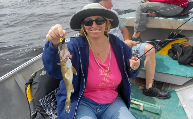 Josee Olsen sportfishing in Canada